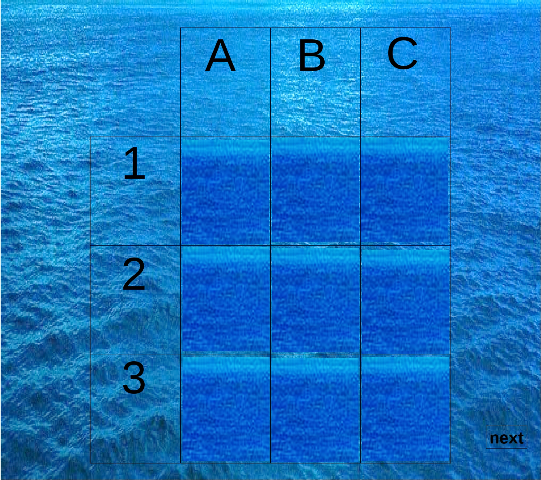 A B C 1 2 3 next
