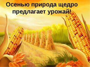 Осенью природа щедро предлагает урожай!