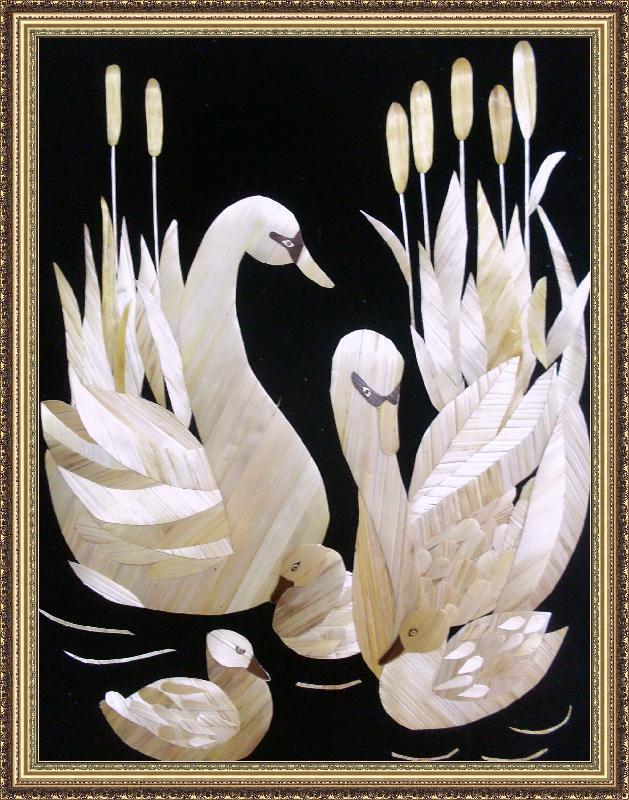 Картины из соломы мастер класс