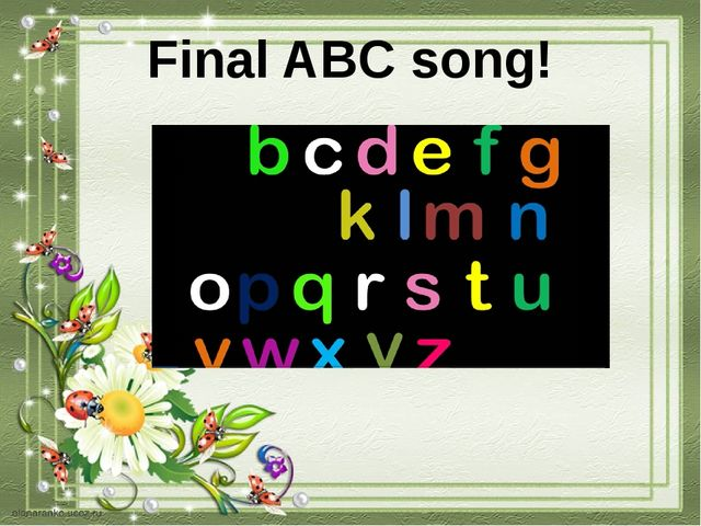 Final ABC song!