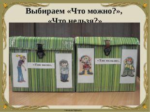Выбираем «Что можно?», «Что нельзя?» FokinaLida.75@mail.ru