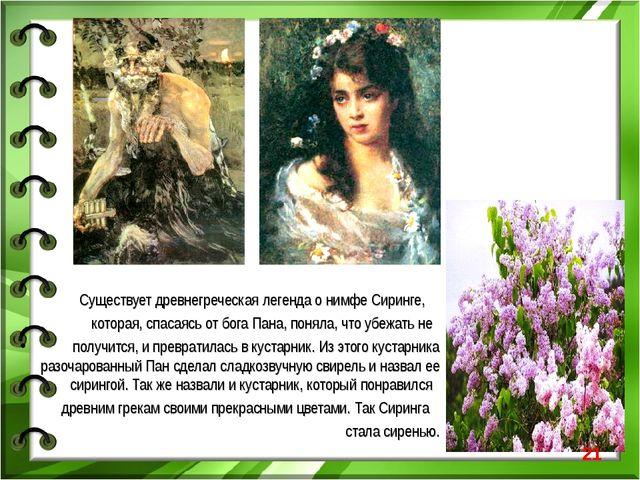 Существует древнегреческая легенда о нимфе Сиринге, которая, спасаясь от бог...