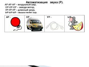 Автоматизация звука (Р). Автоматизация звука (Р ). АР-АР-АР – воздушный шар,
