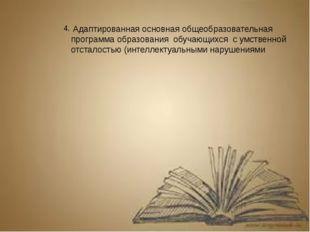 4. Адаптированная основная общеобразовательная программа образования обучающи