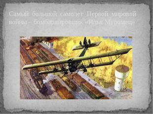 Самый большой самолет Первой мировой войны – бомбардировщик «Илья Муромец»