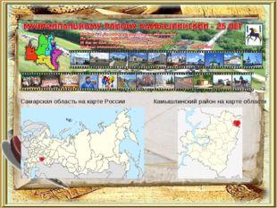 Самарская область на карте России Камышлинский район на карте области