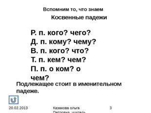 Ответь на вопросы От какого слова зависит? от глагола Что обозначает? На како