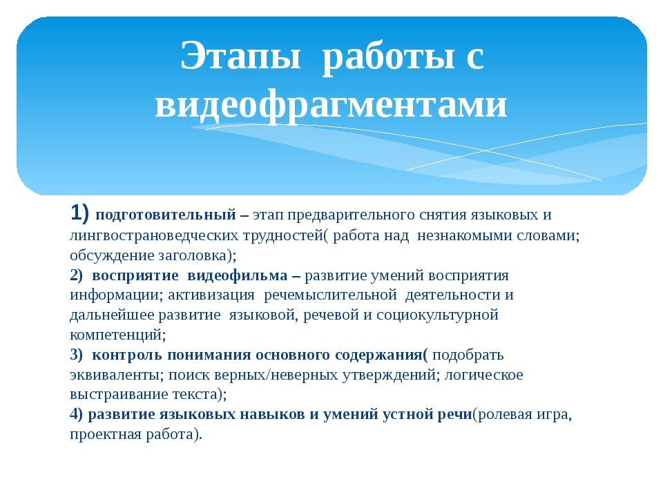 1) подготовительный – этап предварительного снятия языковых и лингвострановед...
