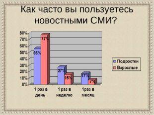Как часто вы пользуетесь новостными СМИ?