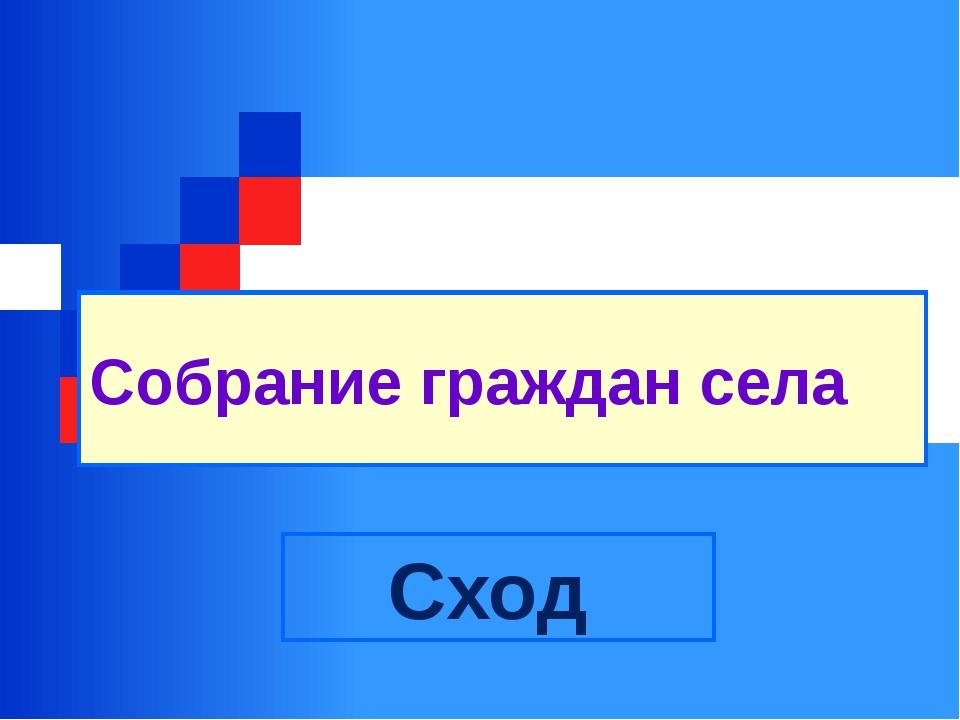 Собрание граждан села Сход