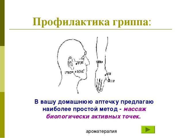 Профилактика гриппа: В вашу домашнюю аптечку предлагаю наиболее простой метод...