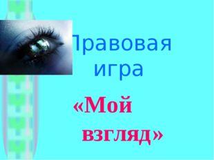 Правовая игра «Мой взгляд»