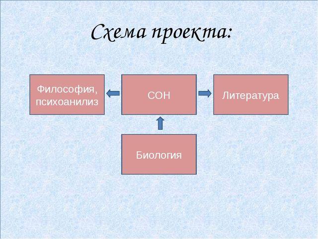 Схема проекта: Философия, психоанилиз СОН Литература Биология
