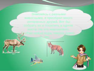 Знакомясь сразными животными, яприобрел много интересных друзей. Вотбы со