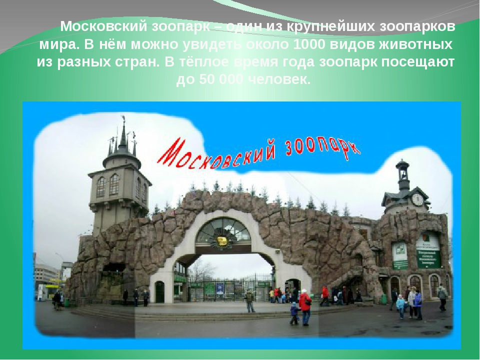 Московский зоопарк – один из крупнейших зоопарков мира. В нём можно увидеть...
