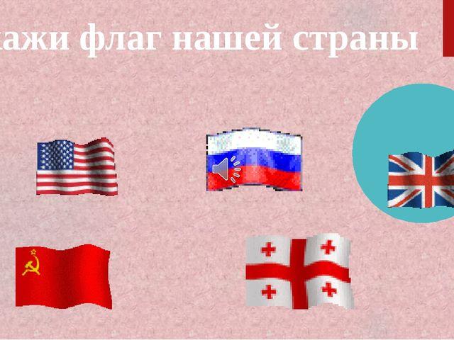 Укажи флаг нашей страны