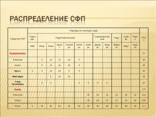 * Средства СФППериоды (по месяцам года)Итого Переходн.ПодготовительныйСо