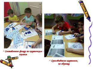 Срисовывание картинок по образцу Составление фигур по карточкам - схемам