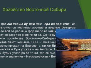 Хозяйство Восточной Сибири В целлюлозно-бумажном производстве исполь