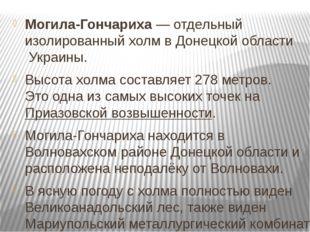 Могила-Гончариха— отдельный изолированный холмвДонецкой областиУкраины. В