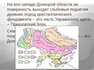 На юго-западе Донецкой области на поверхность выходят глыбовые поднятия древ