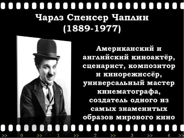 Чарлз Спенсер Чаплин (1889-1977)