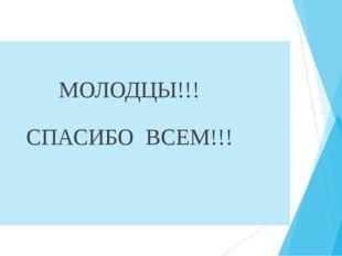 МОЛОДЦЫ!!! СПАСИБО ВСЕМ!!!