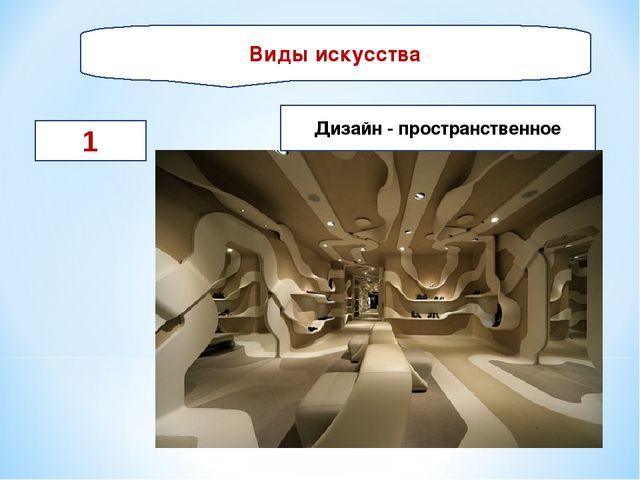 Виды искусства 1 Дизайн - пространственное