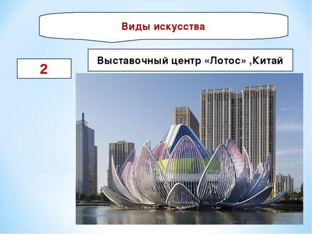 Виды искусства 2 Выставочный центр «Лотос» ,Китай