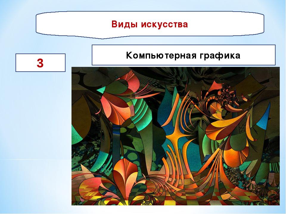 Виды искусства 3 Компьютерная графика