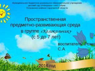 Муниципальное бюджетное дошкольное образовательное учреждение детский сад «Ал