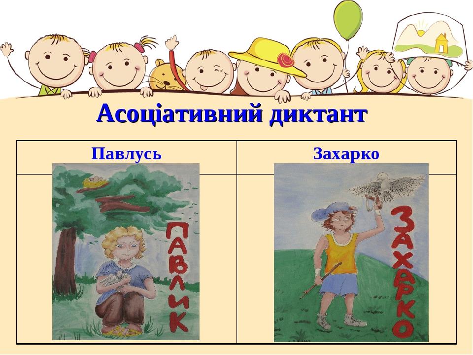 Асоціативний диктант ПавлусьЗахарко
