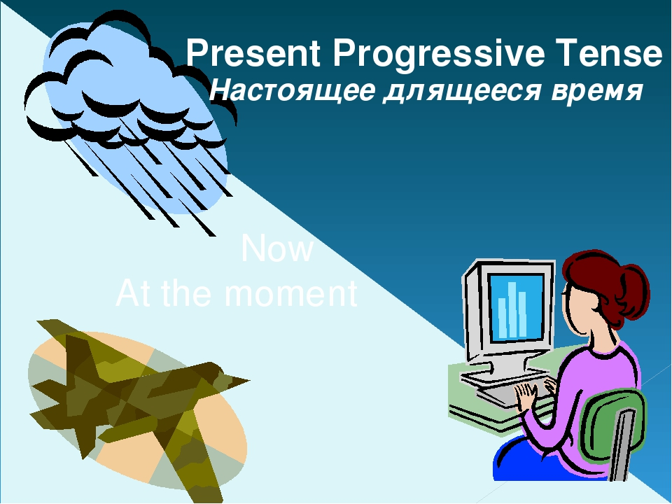 Now At the moment Present Progressive Tense Настоящее длящееся время