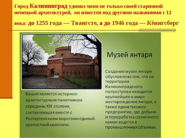 Город Калининград удивил меня не только своей старинной немецкой архитектурой...