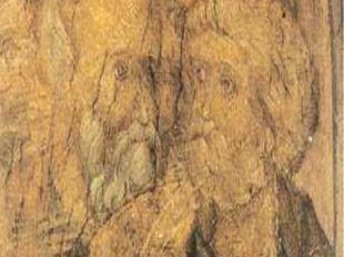 Фреска на своде центрального нефа Успенского собора во Владимире. XV в. А.Руб