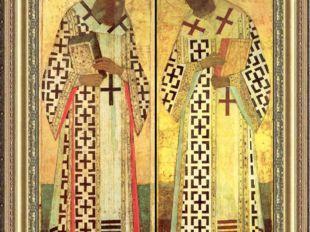 А. Рублёв?. Григорий Богослов. Иоанн Златоуст Иконы. около 1408 г А. Рублёв?.