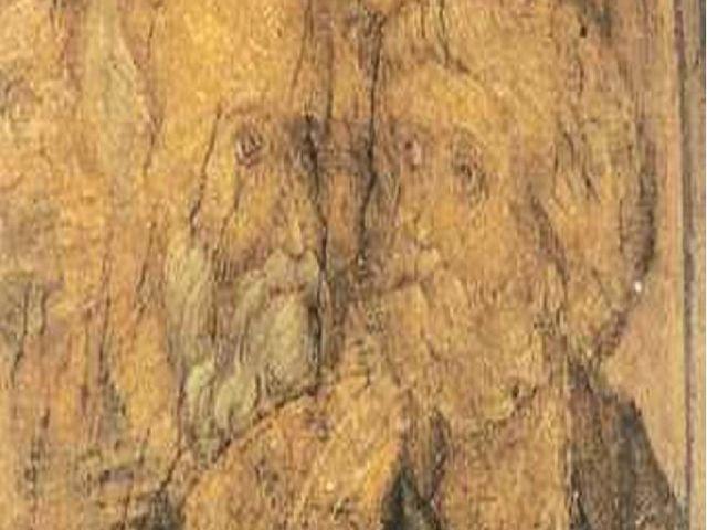 Фреска на своде центрального нефа Успенского собора во Владимире. XV в. А.Руб...