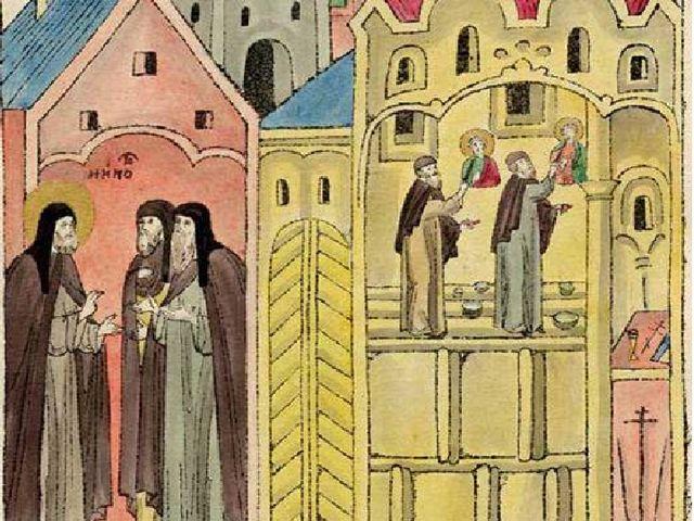 Роспись Рублёвым и Даниилом Троицкого собора. Миниатюра