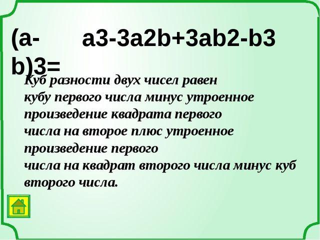 Примеры вариантов некоторых формул: a2 + b2 = (a + b)2 – 2ab a2 + b2 = (a – b...