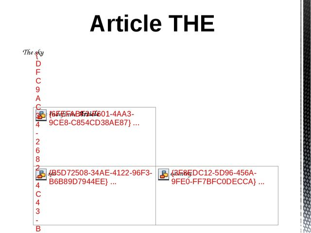 Article THE