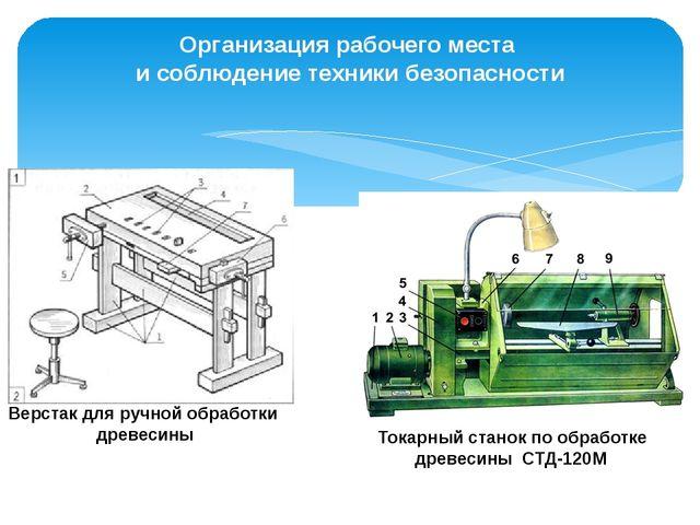 Организация рабочего места и соблюдение техники безопасности Верстак для ручн...