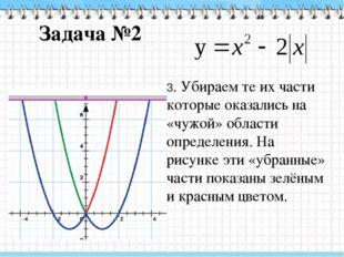 Задача №3 Здесь при построении графика удобно использовать сдвиги вдоль осей