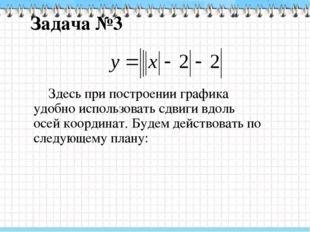 Задача №3 1.Построим «основной» график, т.е. график уравнения