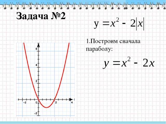 Задача №2 2. Затем построим параболу: