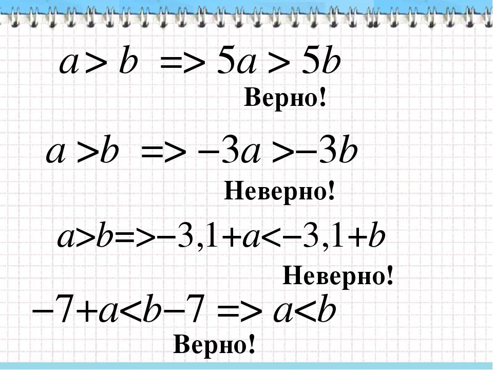 a > b => 5a > 5b a >b => −3a >−3b a>b=>−3,1+a