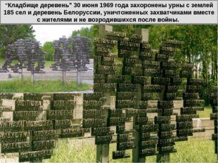 """""""Кладбище деревень"""" 30 июня 1969 года захоронены урны с землей 185 сел и дере"""