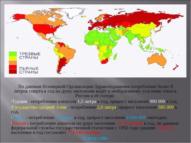 По данным Всемирной Организации Здравоохранения потребление более 8 литров сп...