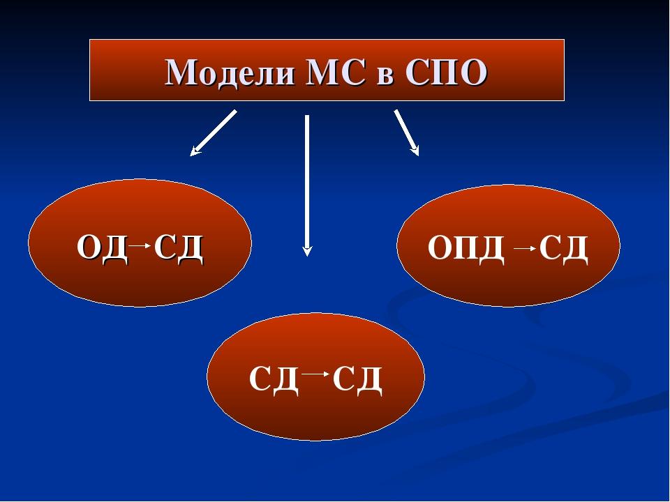 Модели МС в СПО