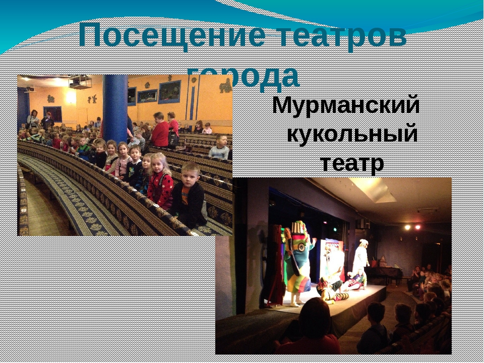 Посещение театров города Мурманский кукольный театр