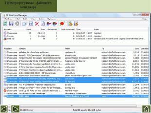 Пример программы -файлового менеджера